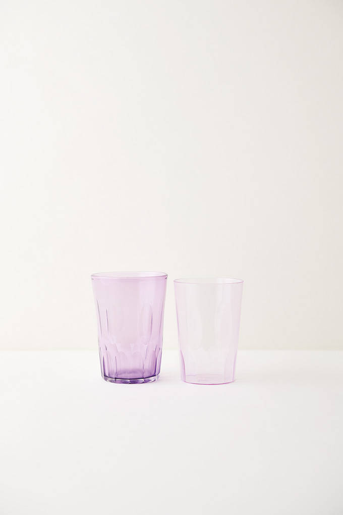 glass⇄plastic